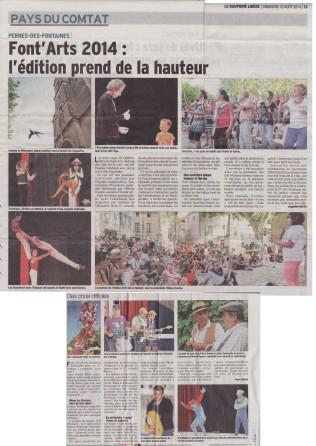 Courcirkoui à Pernes 2014 presse